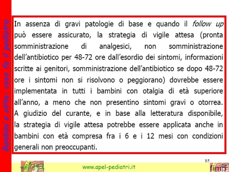 85 Bambini e otite: cosa fa il pediatra www.apel-pediatri.it