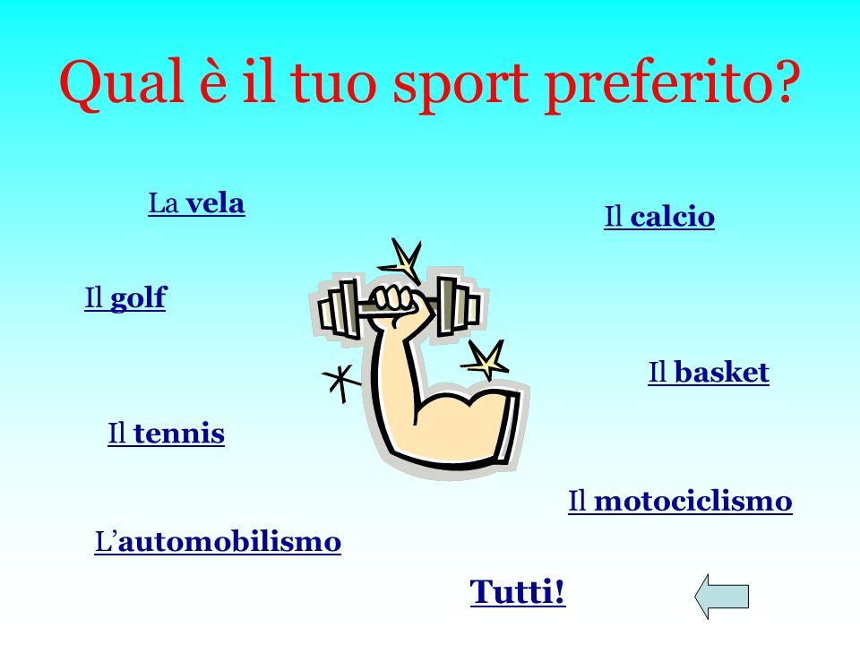 Qual è il tuo sport preferito.