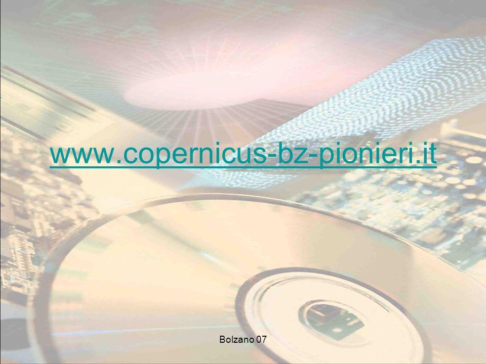 Bolzano 07 www.copernicus-bz-pionieri.it