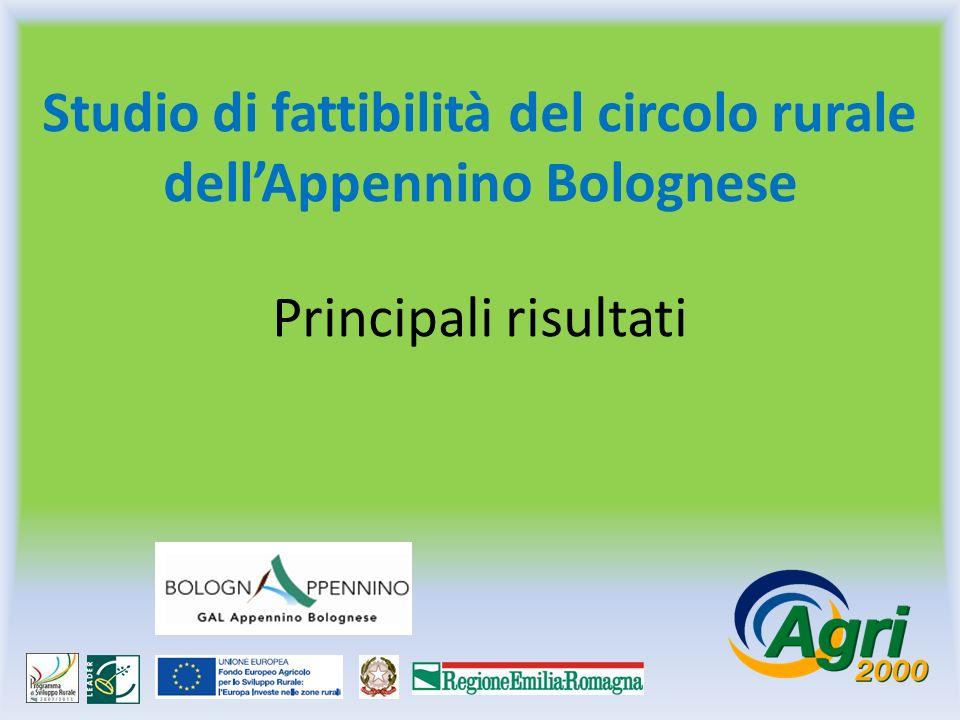 Studio di fattibilità del circolo rurale dellAppennino Bolognese Principali risultati