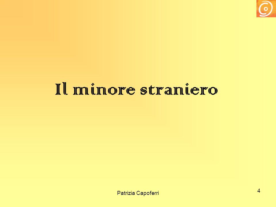 4 Il minore straniero Patrizia Capoferri