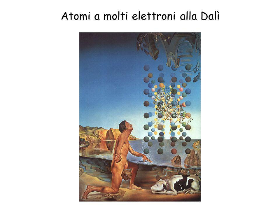 Atomi a molti elettroni alla Dalì