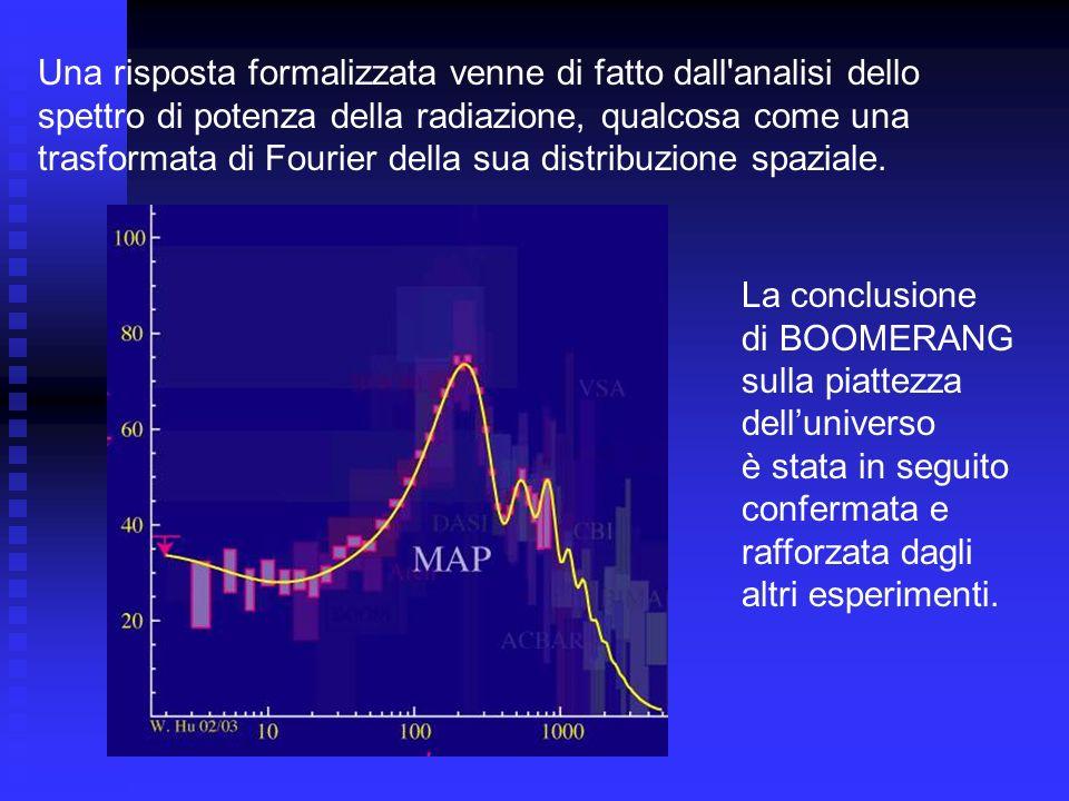 Una risposta formalizzata venne di fatto dall'analisi dello spettro di potenza della radiazione, qualcosa come una trasformata di Fourier della sua di