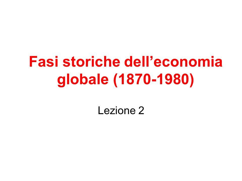 Fasi storiche delleconomia globale (1870-1980) Lezione 2
