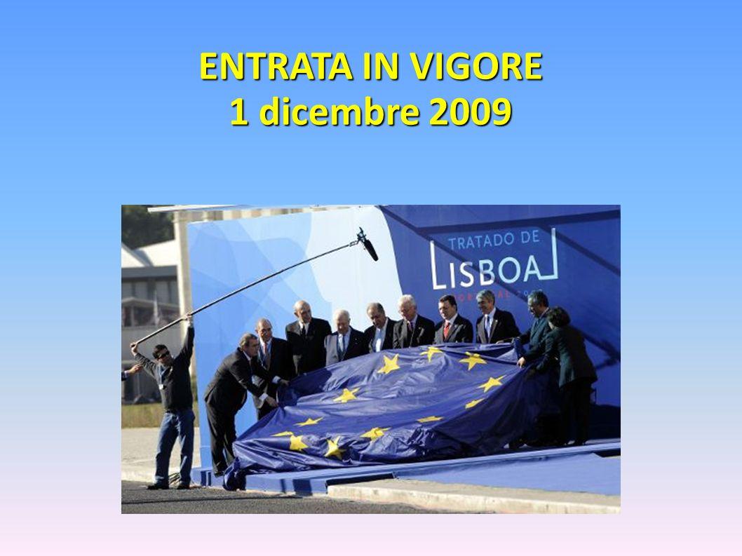 ENTRATA IN VIGORE 1 dicembre 2009
