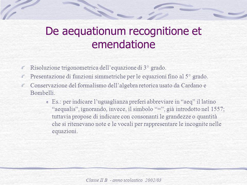 Classe II B - anno scolastico 2002/03 Convocato al parlamento di Parigi nel 1571, fu dapprima consigliere presso il parlamento di Bretagna, poi presso