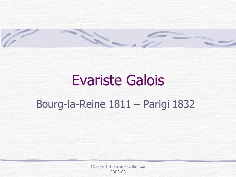 Classe II B - anno scolastico 2002/03 Testi di grandi matematici: Eulero, Newton e Lagrange Nel 1821, a soli diciannove anni fece una scoperta eccezio