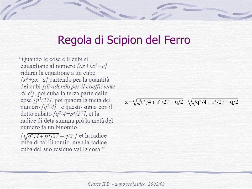 Classe II B - anno scolastico 2002/03 Niccolò Tartaglia Brescia 1499 – Venezia 1557
