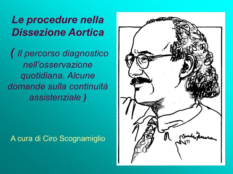Le procedure nella Dissezione Aortica ( Il percorso diagnostico nellosservazione quotidiana. Alcune domande sulla continuità assistenziale ) A cura di