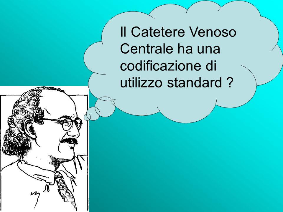 Il Catetere Venoso Centrale ha una codificazione di utilizzo standard ?