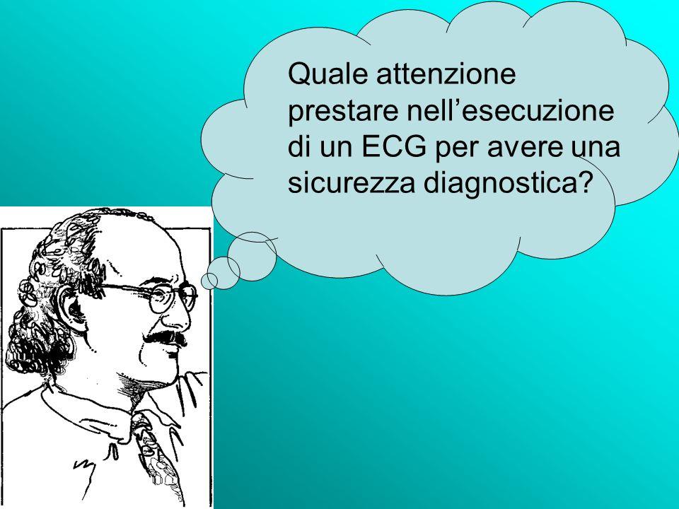 Quale attenzione prestare nellesecuzione di un ECG per avere una sicurezza diagnostica?