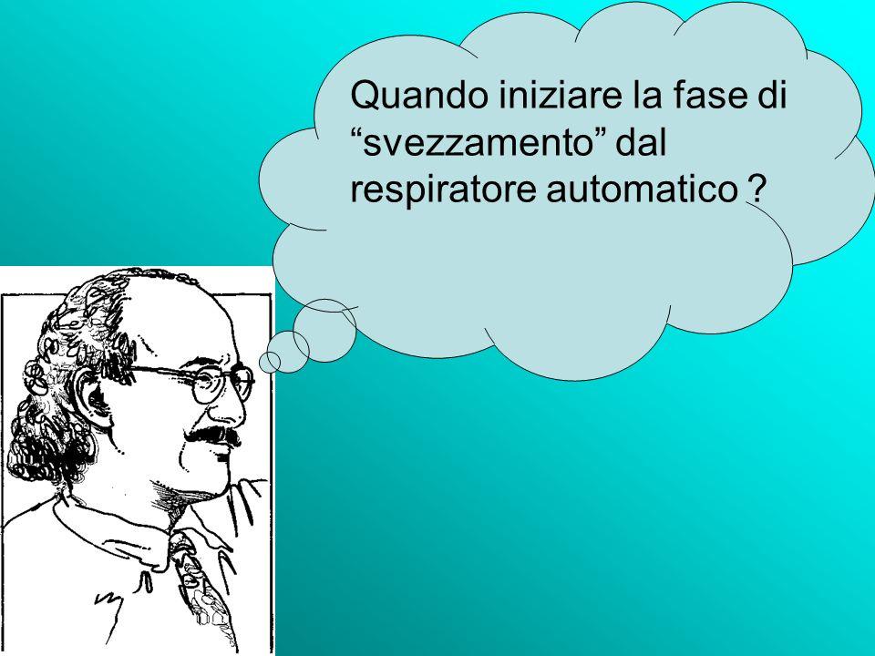 Quando iniziare la fase di svezzamento dal respiratore automatico ?