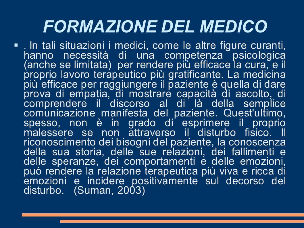 FORMAZIONE DEL MEDICO.