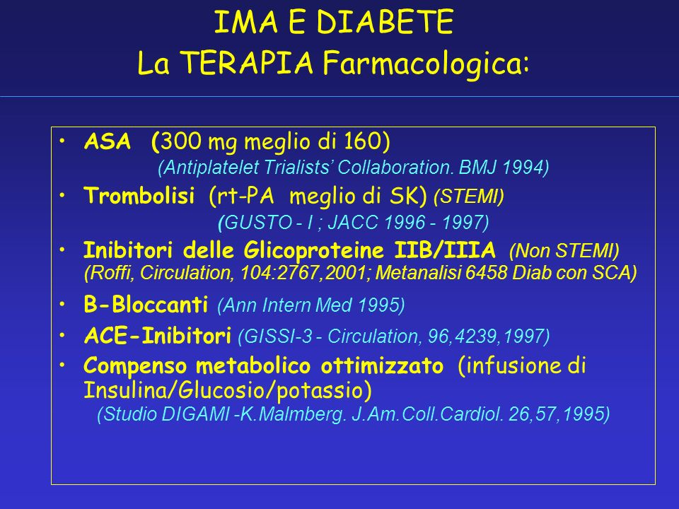 IMA_RE Mortalità per IMA nella Provincia di Reggio Emilia * P=0.0007 Guastalla n.s. N° 1634 N°489 G.Bellodi, V.Manicardi, Am J Cardiol.64:885,1989.