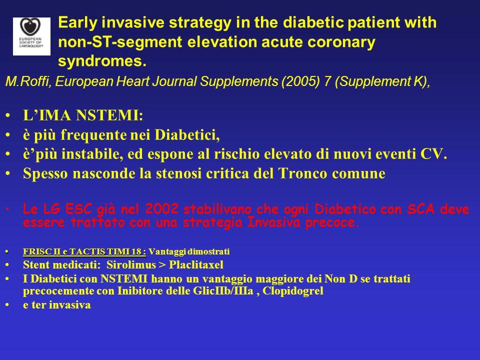 La Rete cardiologica a Reggio Emilia (2002-2006): PTCA e Diabete - Mortalità e complicanze nello STEMI