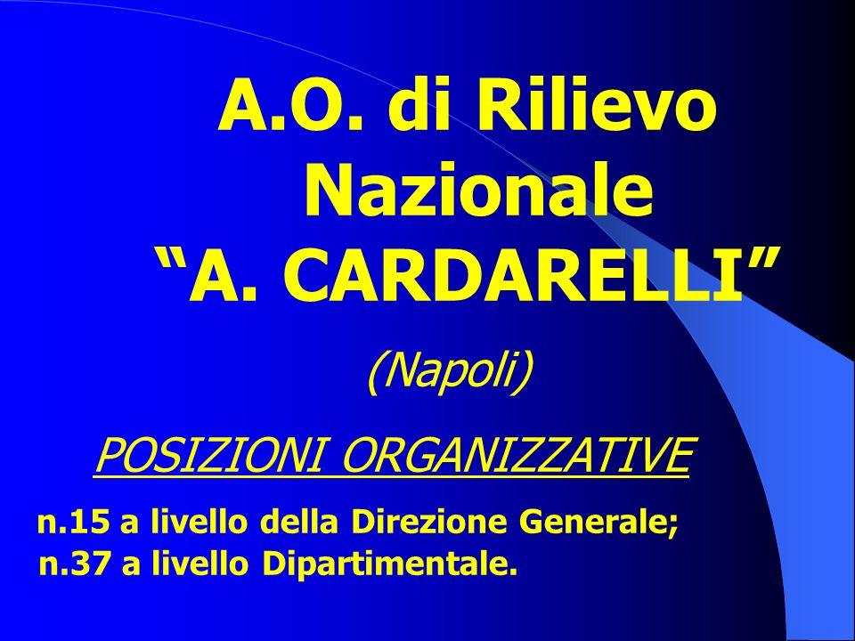 AZIENDE SANITARIE IN EVOLUZIONE A.O. A. Cardarelli; A.S.L. NA3;