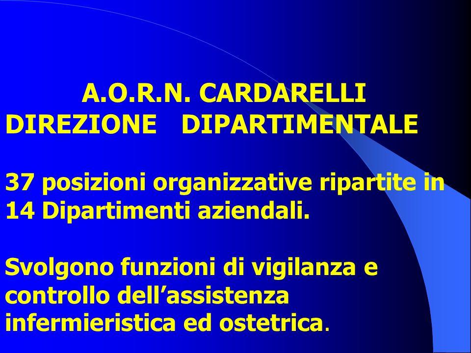 A.O. di Rilievo Nazionale A. CARDARELLI (Napoli) POSIZIONI ORGANIZZATIVE n.15 a livello della Direzione Generale; n.37 a livello Dipartimentale.