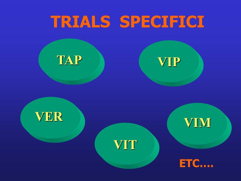 VER VIM VIT TRIALS SPECIFICI TAP VIP ETC….