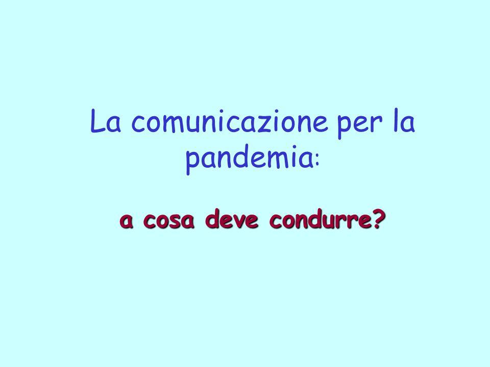 a cosa deve condurre? La comunicazione per la pandemia : a cosa deve condurre?