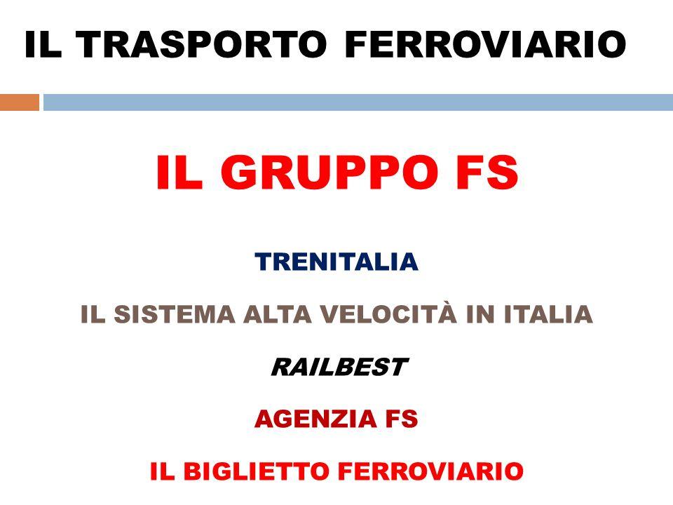 IL TRASPORTO FERROVIARIO IL GRUPPO FS TRENITALIA IL SISTEMA ALTA VELOCITÀ IN ITALIA RAILBEST AGENZIA FS IL BIGLIETTO FERROVIARIO