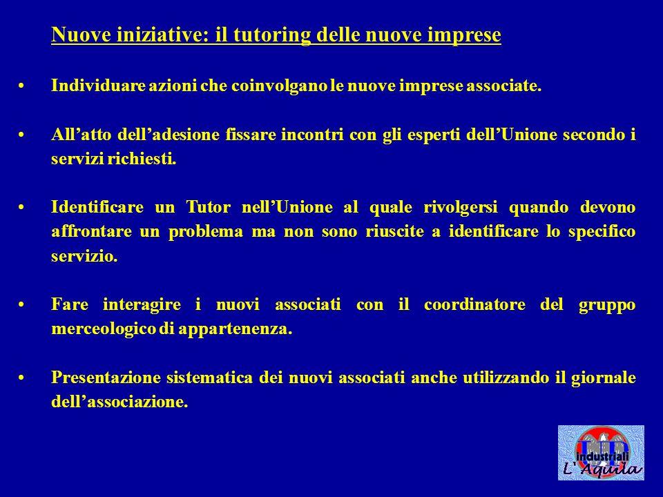 Nuove iniziative: interscambio tra associazioni Identificare unUnione di riferimento, nel nord Italia, da gemellare con la nostra Unione.