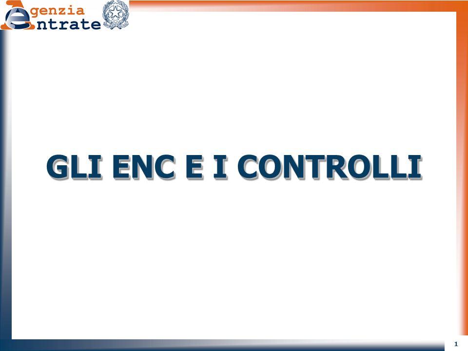 1 GLI ENC E I CONTROLLI