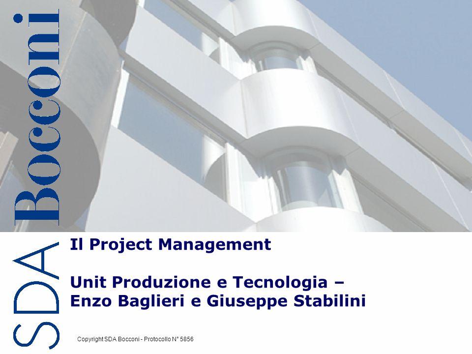 Copyright SDA Bocconi Il Project Management 2 CHE COSE UN PROGETTO.