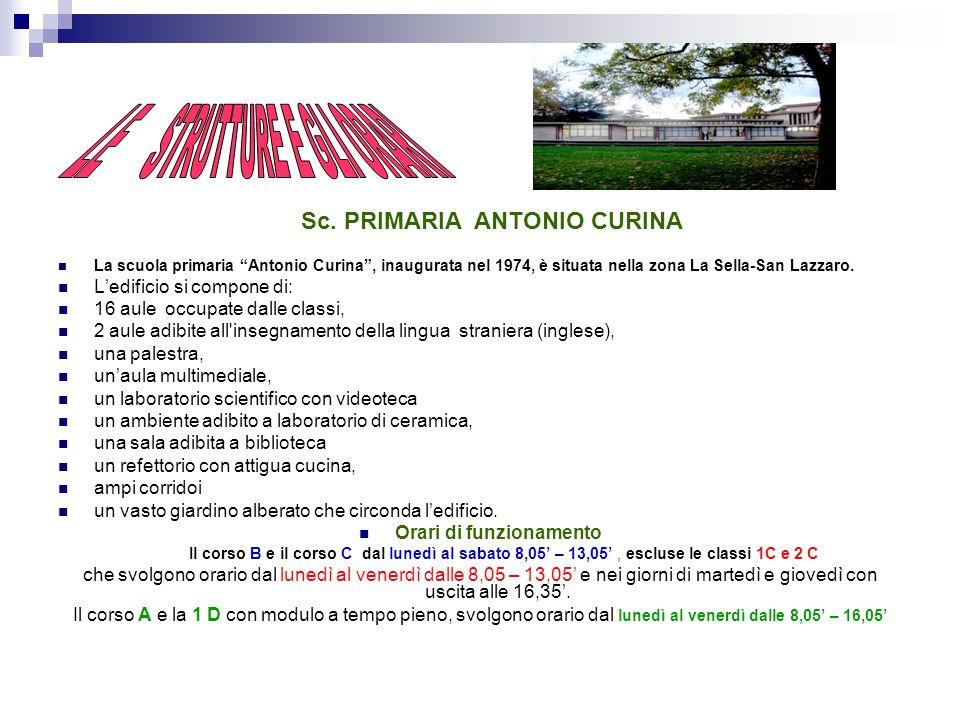 LE STRUTTURE Sc. primaria A. Curina Sc. primaria B.Bucciarelli Ducci Sc. primaria Don Ferruccio Bigi Sc. primaria A. Tavanti