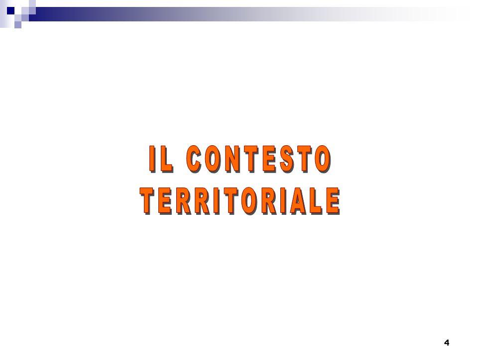 Indice 1) Il contesto territorialeIl contesto territoriale il contesto territoriale le circoscrizioni rapporti con il territorio progetti e territorio