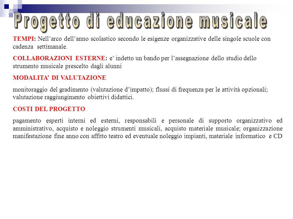 RESPONSABILE GENERALE: prof.ssa Iodice Cecilia FINALITA : sviluppo della cultura musicale scoprire il valore della musica come strumento di espression