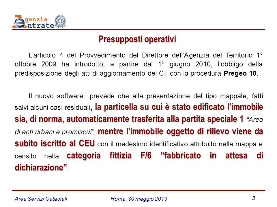 Area Servizi CatastaliRoma, 30 maggio 2013 14