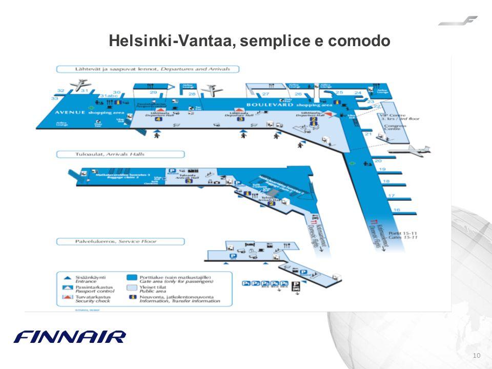 10 Helsinki-Vantaa, semplice e comodo