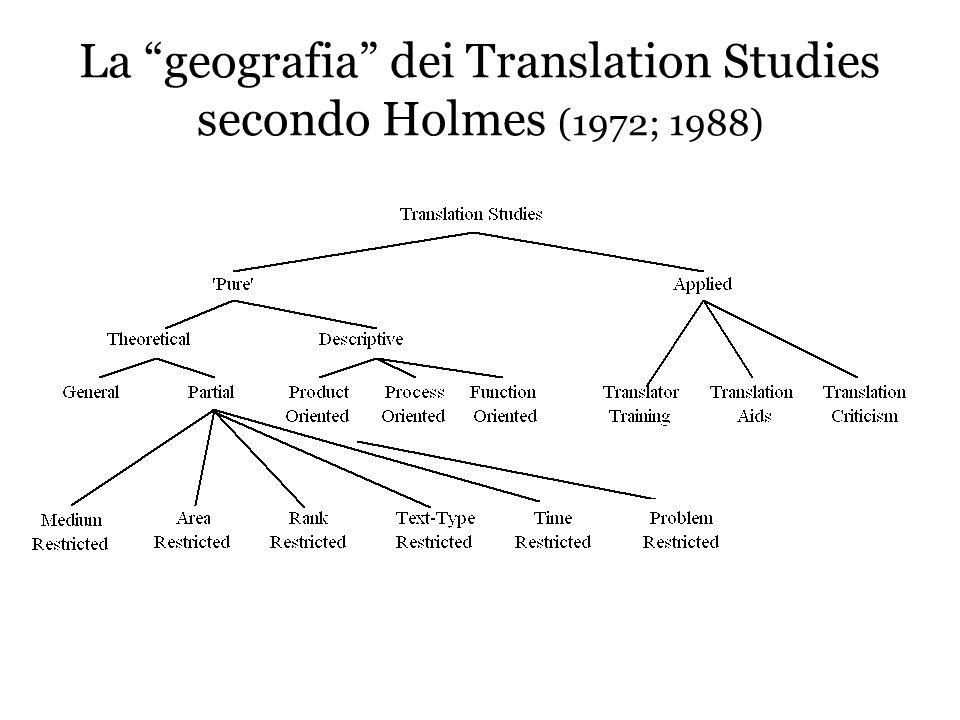 Cosa studiano i Translation Studies Processo traduttivo -Individuale vs.