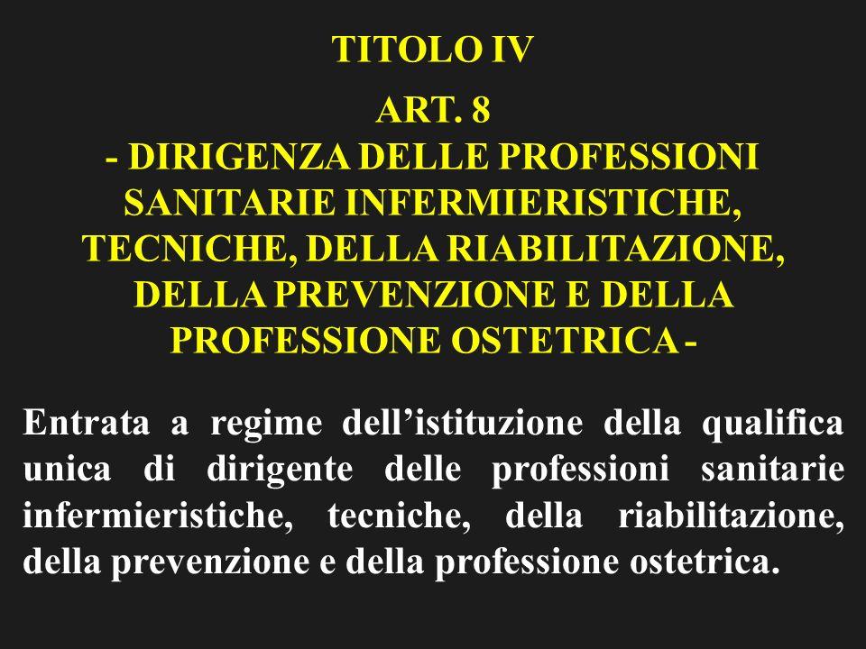 TITOLO IV ART.