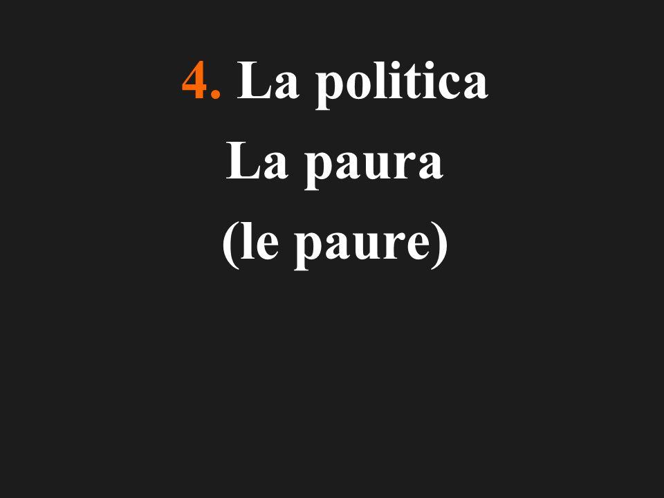 4. La politica La paura (le paure)