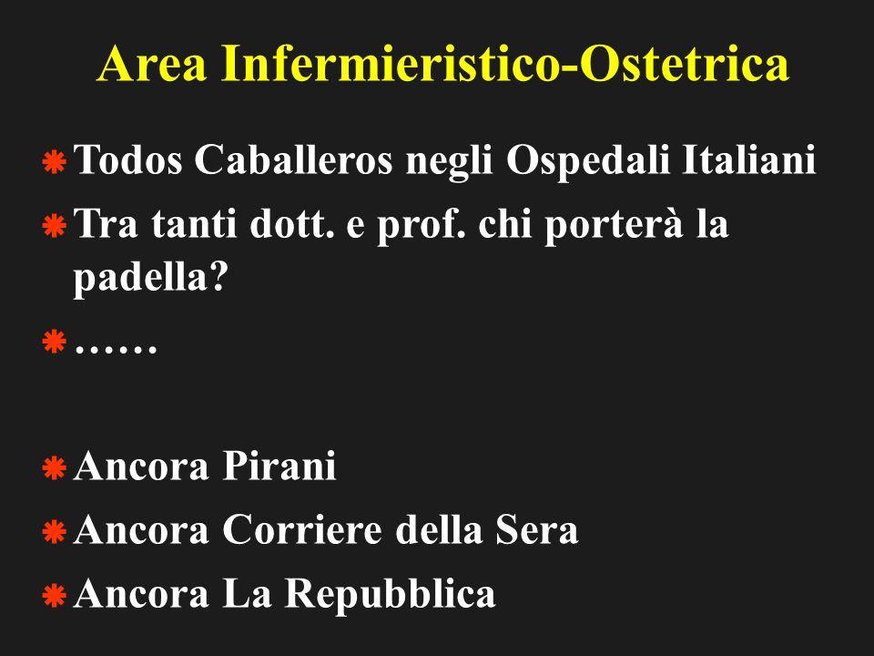 Area Infermieristico-Ostetrica Todos Caballeros negli Ospedali Italiani Tra tanti dott.