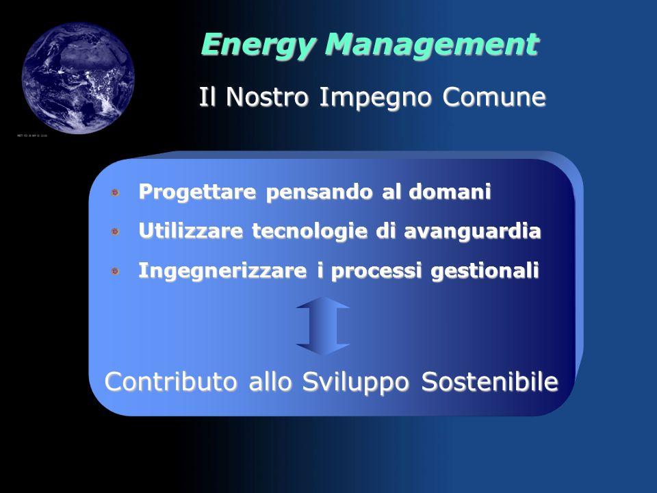 Energy Management I Macro Obiettivi Massima efficienza nella produzione, distribuzione e utilizzo dellenergia Riduzione emissioni climalteranti Svilup