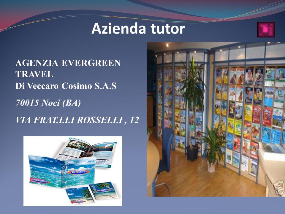AGENZIA EVERGREEN TRAVEL Di Veccaro Cosimo S.A.S 70015 Noci (BA) VIA FRAT.LLI ROSSELLI, 12 Azienda tutor