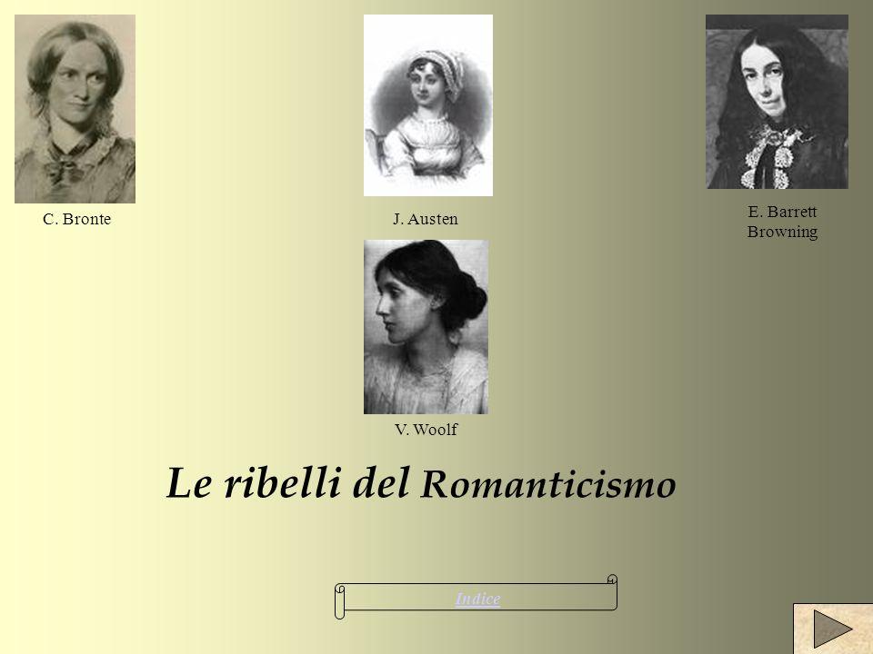 Le ribelli del Romanticismo Indice C. Bronte V. Woolf E. Barrett Browning J. Austen