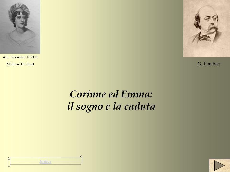 Corinne ed Emma: il sogno e la caduta Indice A.L. Germaine Necker Madame De Staël G. Flaubert
