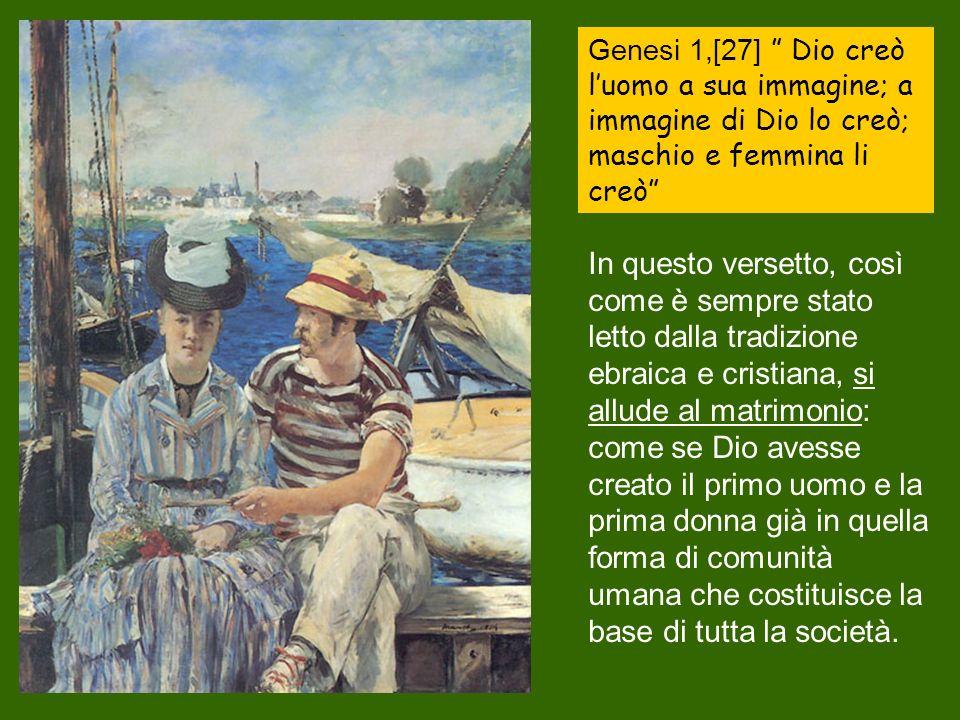 Genesi 1, 28 Dio li benedisse e disse loro: «Siate fecondi e moltiplicatevi, riempite la terra; …».