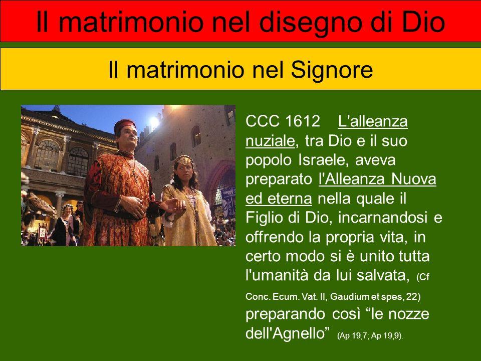 CCC 1613 Alle soglie della sua vita pubblica, Gesù compie il suo primo segno - su richiesta di sua Madre - durante una festa nuziale (Cf Gv 2,1- 11).