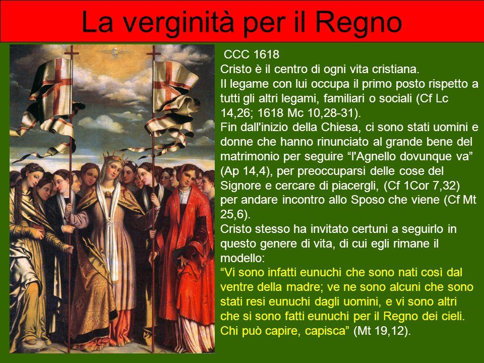CCC 1618 Cristo è il centro di ogni vita cristiana. Il legame con lui occupa il primo posto rispetto a tutti gli altri legami, familiari o sociali (Cf