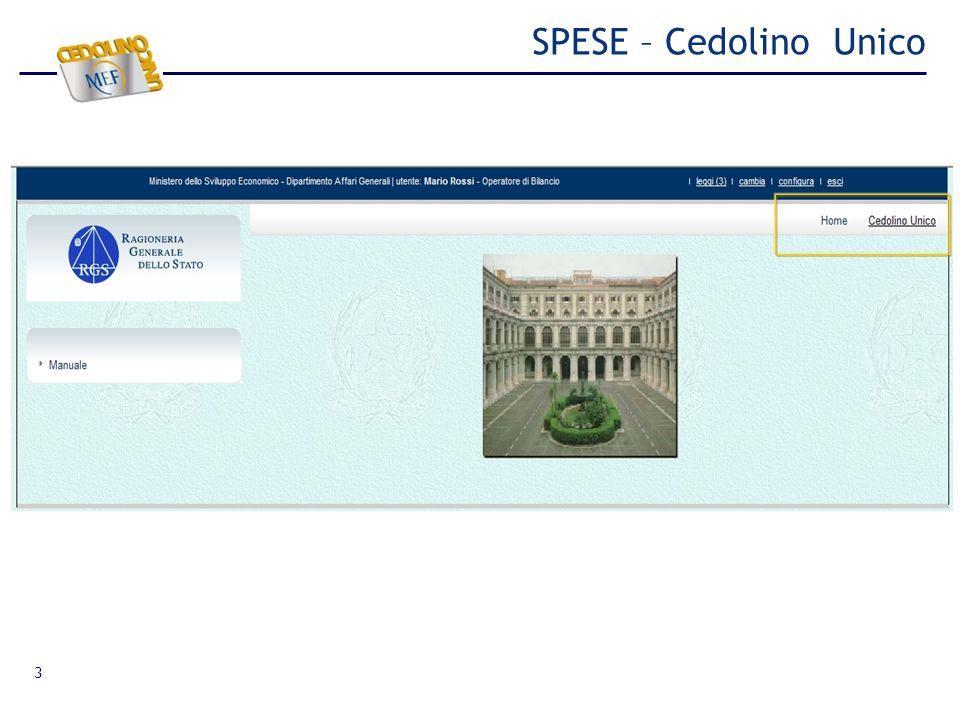 3 SPESE – Cedolino Unico