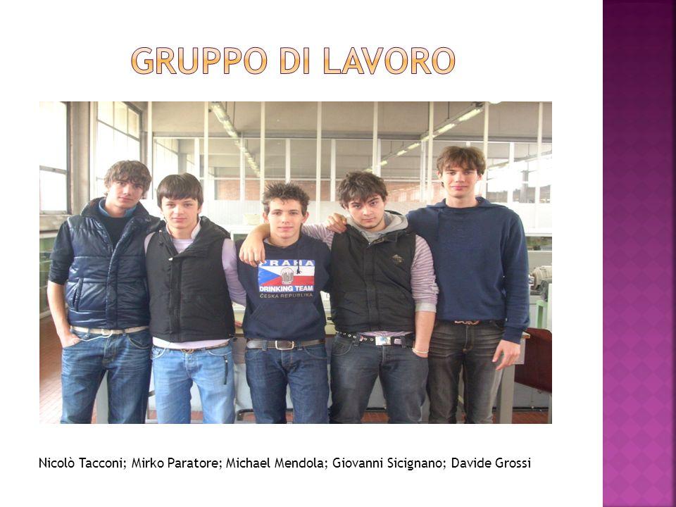 Nicolò Tacconi; Mirko Paratore; Michael Mendola; Giovanni Sicignano; Davide Grossi