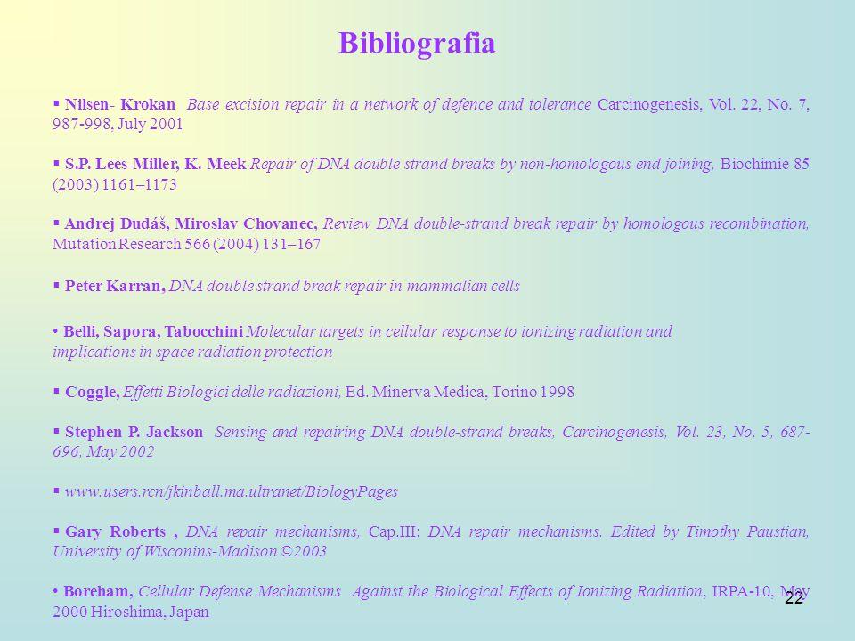 22 Nilsen- Krokan Base excision repair in a network of defence and tolerance Carcinogenesis, Vol. 22, No. 7, 987-998, July 2001 S.P. Lees-Miller, K. M