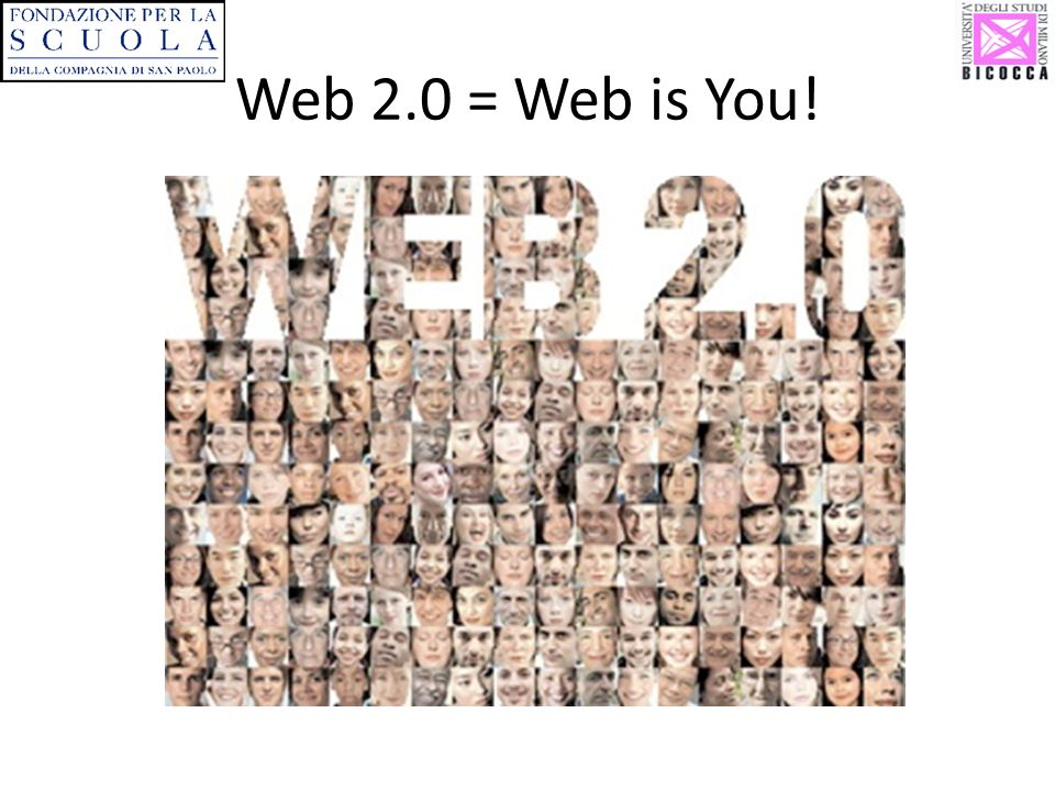 Web 2.0 = Web is You!