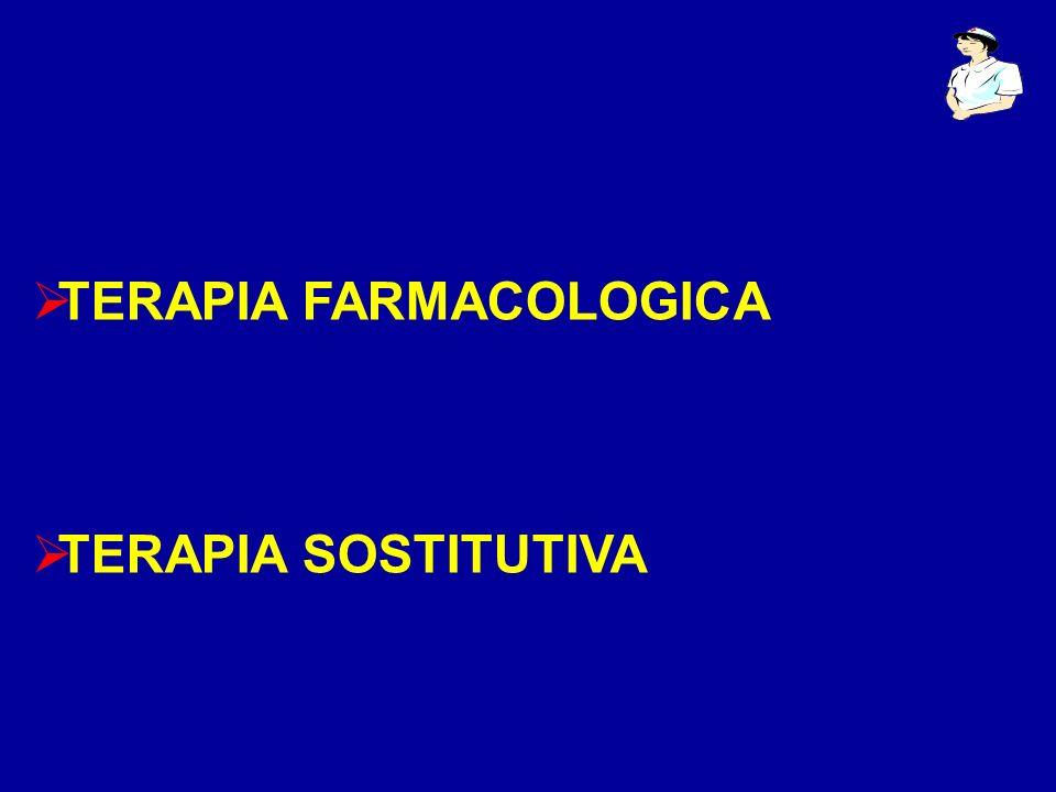 TERAPIA FARMACOLOGICA TERAPIA SOSTITUTIVA