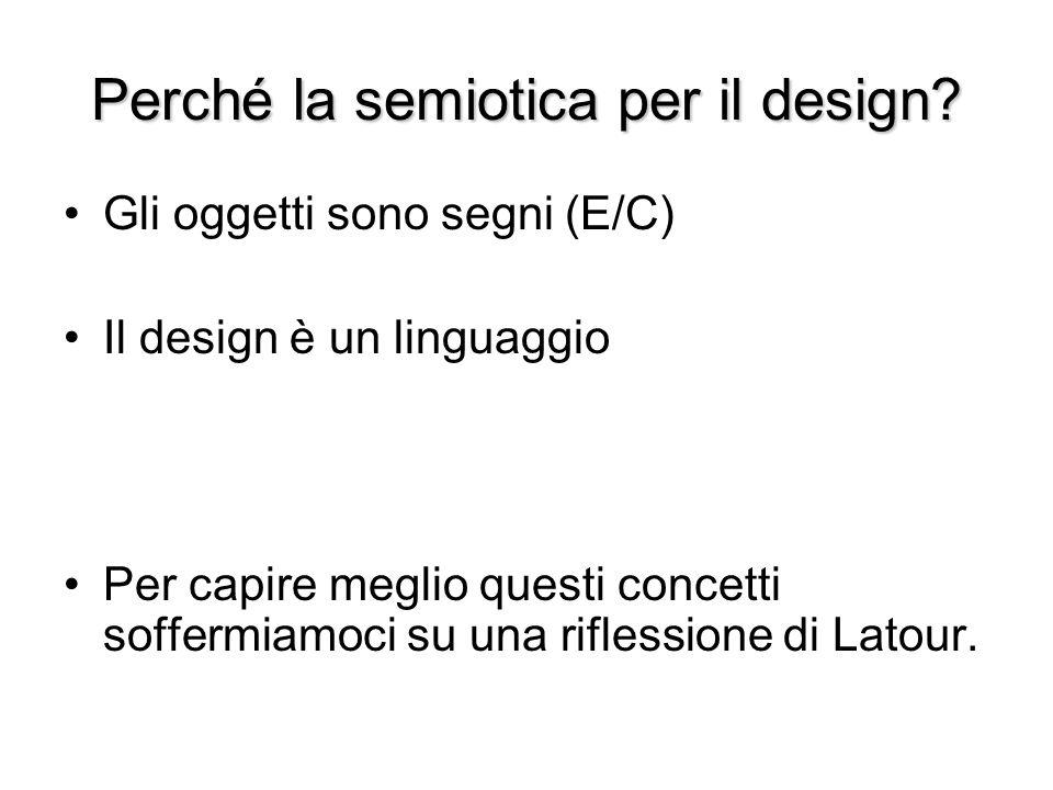 Perché la semiotica per il design? Gli oggetti sono segni (E/C) Il design è un linguaggio Per capire meglio questi concetti soffermiamoci su una rifle