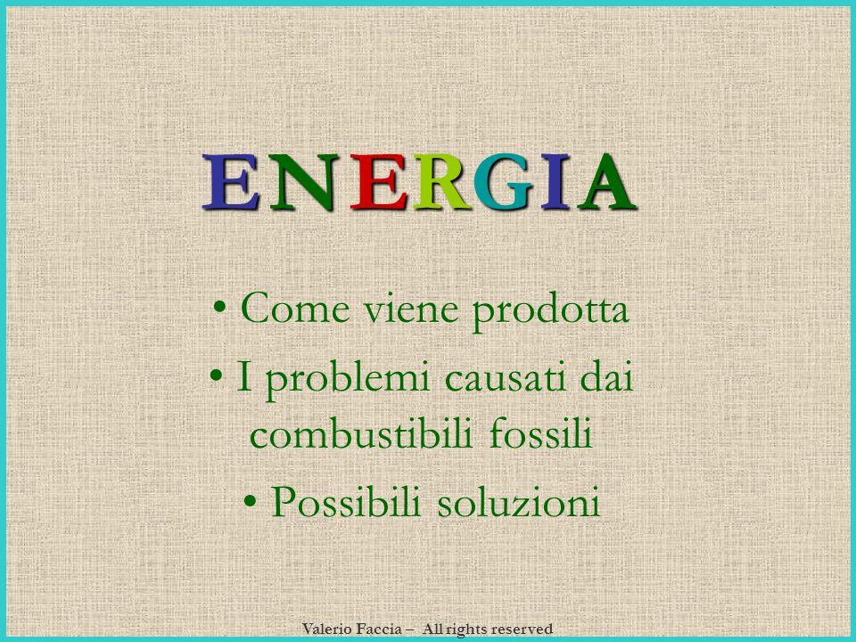 Valerio Faccia – All rights reserved Come viene prodotta I problemi causati dai combustibili fossili Possibili soluzioni N ER GIA E